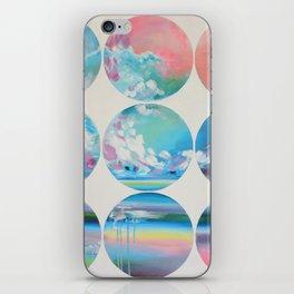White Circles iPhone Skin