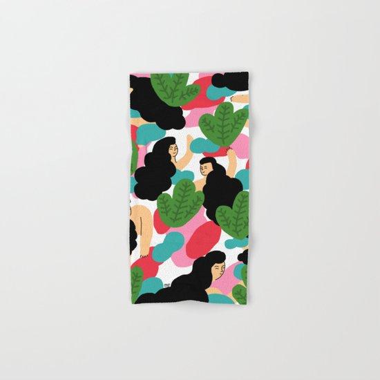 Girl Pattern Leaf Hand & Bath Towel