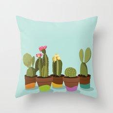 Cacti Gang Throw Pillow