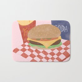 Burgers and Fries? Yes Plz. Bath Mat