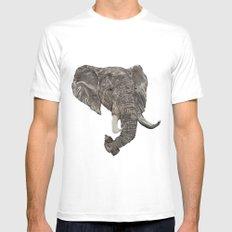 Street Elephant MEDIUM Mens Fitted Tee White