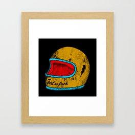 fast as fuck Framed Art Print