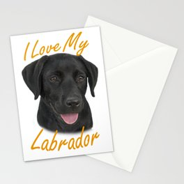 I Love My Labrador Stationery Cards