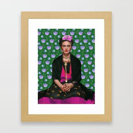 Flowers Frida Kahlo I Framed Art Print