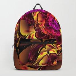 Beautiful Lantana Camara Sunrise Fractal Flowers Backpack