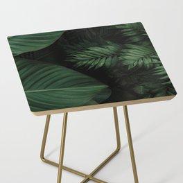 Tropical Beauty // Tropical Boho Leaves meets Minimalist Patterns Side Table