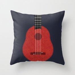Ukulele Illustration Throw Pillow