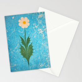 Pure Daisy marbling art Stationery Cards