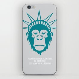 Planet of the Apes - Alternative Movie Poster iPhone Skin