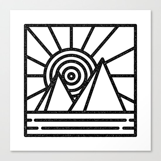 minmal mountain Canvas Print