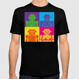 Vintage Tin Toy Robots T-shirt