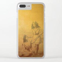 Golden Memories Clear iPhone Case