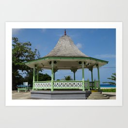 A bandstand in Barbados Art Print