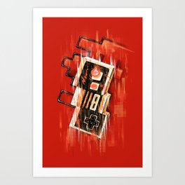 Blurry NES Art Print