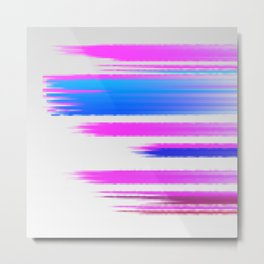 Abstract pink and blue Metal Print