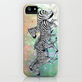 Running Zebras iPhone Case