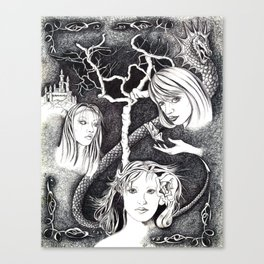 Thee Sisters Canvas Print