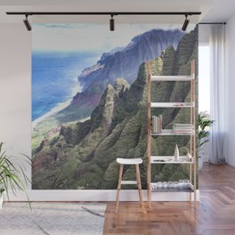 Hawaii's BREATHTAKING Na Pali Coastal Cliffs Wall Mural