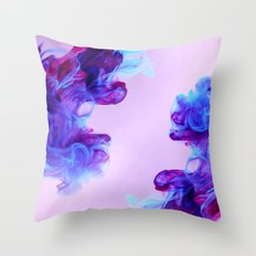 Ink Drops Throw Pillow