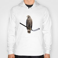 blackhawks Hoodies featuring Polyhawk on Black by fohkat