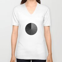 dota V-neck T-shirts featuring Shades of Grey by Rothko