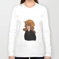 hermione Long Sleeve T-shirts featuring Hermione and Crookshanks  by zoosemiotics