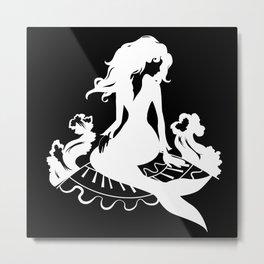 Mermaid Silhouette Metal Print