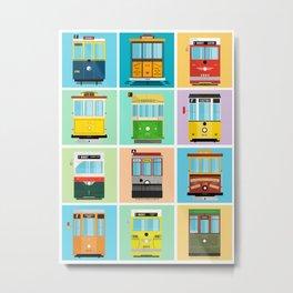 Streetcars of San Francisco Metal Print