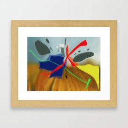 Farm and Field Framed Art Print