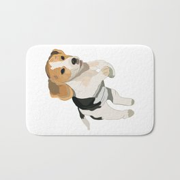 Beagle Art, beagle puppy, digital painting Bath Mat