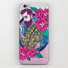 A man without a mustache is not well dressed iPhone Skin