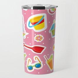 Summer Fun Pink Travel Mug