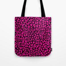 Pink Black Leopard Tote Bag