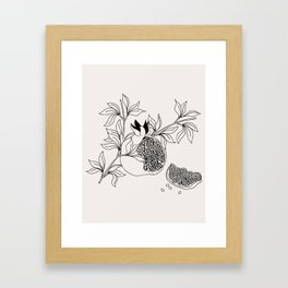 Pomegranate (BW) Framed Art Print