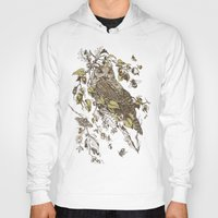 inspirational Hoodies featuring Great Horned Owl by Teagan White