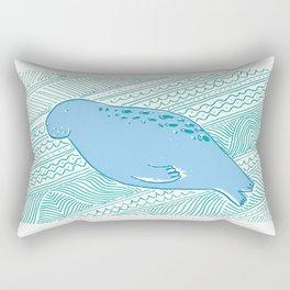 Manatees are Rotund Sea-Mammals Rectangular Pillow