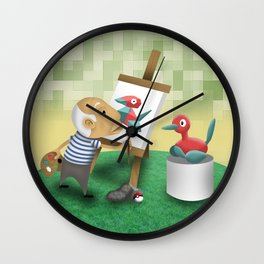 Picasso's view Wall Clock