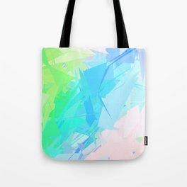 Island Paradise Pastel Abstract Tote Bag