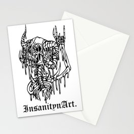 Insanity n Art's Original Melting Metalcore Skeleton.  Stationery Cards