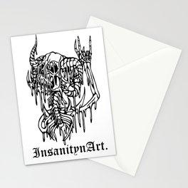 Insanity n Art's Original Melting Metalcore Skeleton.  Stationery Cards