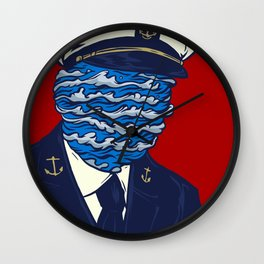 Captain of the Salty Waves Wall Clock