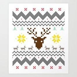 Christmas Festival Santa Gift for Winter Holidays Light Art Print