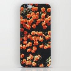 Orange flower fleurs iPhone & iPod Skin