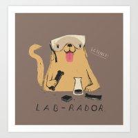 lab Art Prints featuring lab-rador by Louis Roskosch
