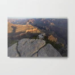 Grand Canyon Overlook During Sunrise Metal Print