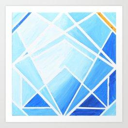 Blue - Colorful Geometric Art Print