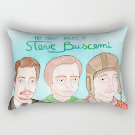 The many faces of Steve Buscemi Rectangular Pillow
