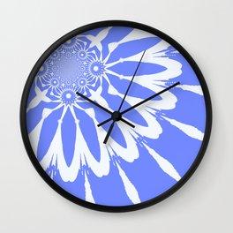 The Modern Flower Baby Blue & White Wall Clock