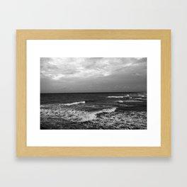 ocean side  Framed Art Print