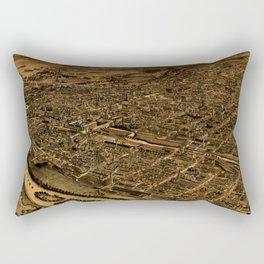 Map Of Allentown 1922 Rectangular Pillow